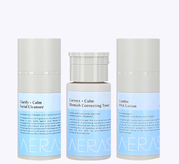 Skincare set hydrating acne asian