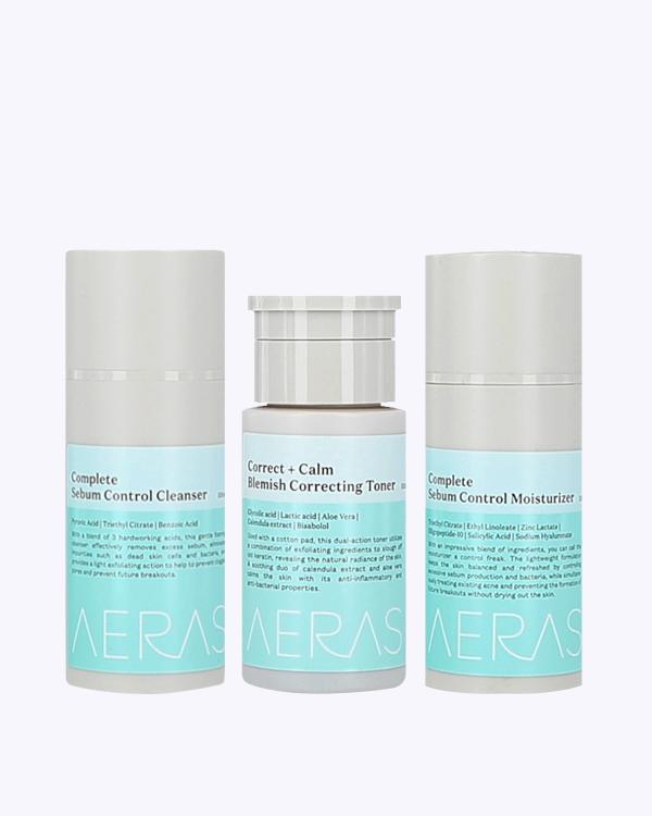 Oily face skincare set acne